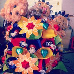 Best/cuties best friend ever! #surprise #giftbasket #edibleblooms #bestfriend #babygift #14weeks #loveher