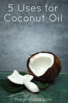Uses for Coconut Oil. 5 beauty uses for coconut oil. Number 2 is my favorite! #naturalliving #coconutoil #30daymom