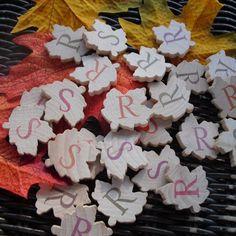Wood Maple Fall Leaf Confetti - Set of 100 - Item 1209