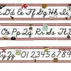 Display this full-sized Pirate Themed alphabet banner that includes letters A-Z and digits 0-9 above a bulletin board, SMARTBoard, window, or any f...