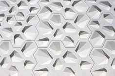 Modular 3D wall surface modul tile with polygonal hexagonal pattern Nieto Sobejano Arquitectos  centro de creación contemporánea . córdoba