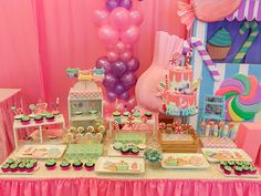 Candyland theme dessert table