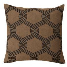 Marimekko's Sulhasmies cushion cover, black - brown. Pattern by Maija Isola.