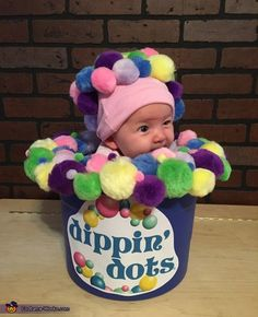 Britney: Our 3 month old baby girl, Emery is wearing this costume. We wanted something's that was unique & obviously something that was stationary since she is little. Material needed: Bucket,...