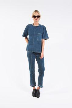 Brant Shirt, Denim Blue