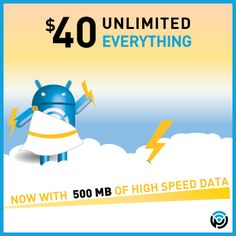 Double the high speed, NOT double the price!  Our $40 Unlimited Everything plan now has 500 MB of high speed data, effective immediately on all new $40 Top-Ups.  Visit www.ptel.com/plans?cid=pin500 to learn more.