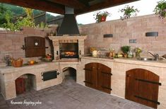 If you are looking for Outdoor Kitchen Roof, You come to the right place. Here are the Outdoor Kitchen Roof. This post about Outdoor Kitchen Roof was posted under the. Backyard Kitchen, Summer Kitchen, Outdoor Kitchen Design, Patio Design, Backyard Patio, Pizza Oven Outdoor, Outdoor Cooking, Built In Grill, Bbq Area