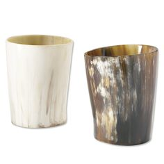 Just found this Unique Art Whiskey Tumblers - Cow Horn Whiskey Tumblers -- Orvis on Orvis.com!