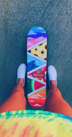 i first need a skateboard Painted Skateboard, Skateboard Design, Skateboard Party, Skateboard Girl, Penny Skateboard, Longboard Design, Cute Canvas Paintings, Small Canvas Art, Diy Canvas Art