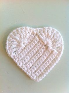crocheted heart -