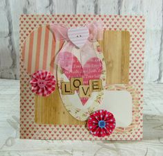 Love card using First Edition Love Story by design team member Katie