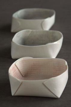 bowls- I'm not sure if these are made out of paper or what, but it would be really neat to make them out of a flat piece of clay