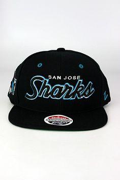 Zephyr Headliner San Jose Sharks Snapback Hat Black - Teal - White b2bfb4eba2b7