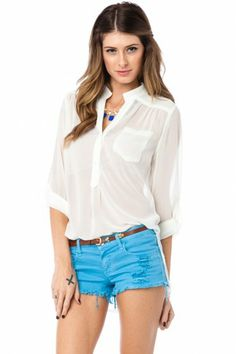 Pure Chiffon Blouse in Ivory