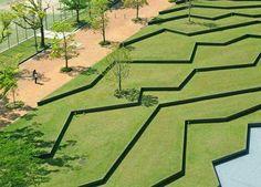 Kyushu Sangyo University Landscape Design, by DESIGN NETWORK +ASSOCIATES, Fukuoka, Japan.  -The LA Team www.landarchs.com