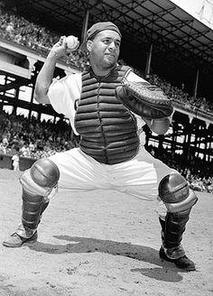 Brooklyn Dodgers-Roy Campanella / World Series winning catcher.   Paralyzed, 1958, automobile accident.