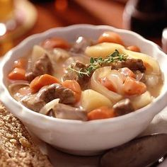 Luck of the Irish Stew... Nothing is more Irish than rich, flavorful, Irish stew full of carrots, potatoes, and lamb (or beef chuck roast). Don't wait until St. Patrick's Day dinner to make this dish.