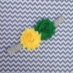 SALE Oregon Ducks green and yellow chevron by ItsAllChevron, $5.99