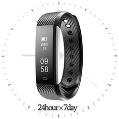 Fitness Tracker HR-Realdios Smart Watch with Heart Rate Monitor Touch Screen Bracelet Waterproof Sweatproof Sleep Tracker Step Distance Calorie Counter Pedometer Wristband for Android and iOS (Black)   Functions Instruction 1. Activities Record ★ Record Daily Activities, you could check daily activities includingsteps,distance and calo