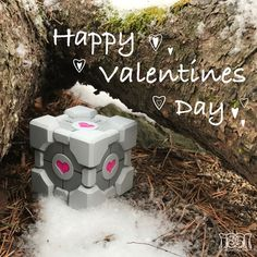 Happy Valentines Day! 💕 #valentines #portal #companioncube #thecraftmaiden