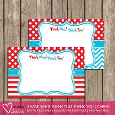 Personalized Dr Seuss Cat In The Hat Thank You By TeAmoCharlie 400 Birthday