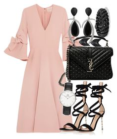 Sans titre #1221 by kiannanas on Polyvore featuring Roksanda, Gianvito Rossi, Yves Saint Laurent, David Yurman, Jorge Adeler, Daniel Wellington and Lynn Ban