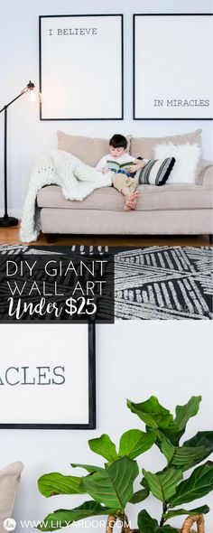 Art work doesn't need to cost a hand and a leg. Learn how to make it for under $25 and they even cut it to size for you in store.
