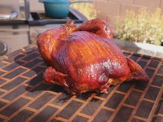 Get Smoked Whole Chicken with Honey BBQ Sauce Recipe from Food Network