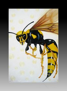 """Wasp, the YellowJacket"" 24x36in (60x92cm) Oil on Canvas (Available for Sale) (Copyright Lance Jeschke © 2012)"
