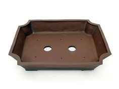 Bonsai pot  klassieke vorm handgevormd steengoed roodbakkend