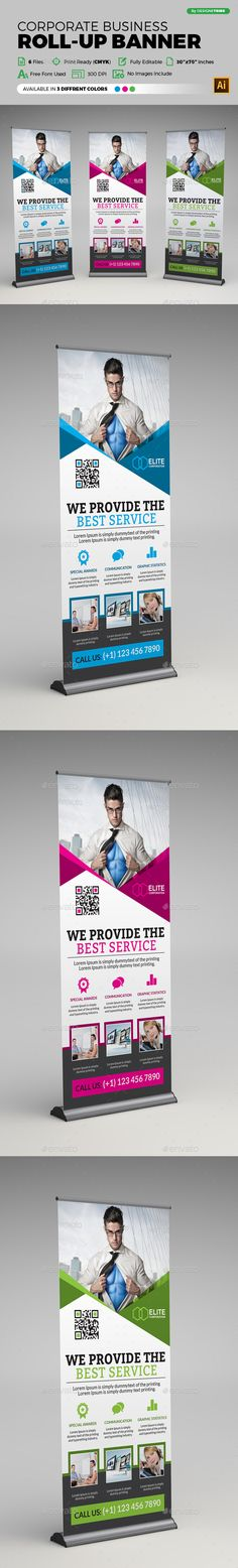Corporate Business Roll-up Banner Template Vector EPS, AI #design Download: http://graphicriver.net/item/corporate-business-rollup-banner/14120954?ref=ksioks