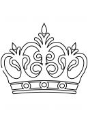 Royal Crown Coloring Sheet