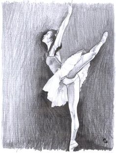 dibujo de bailarina a lapiz
