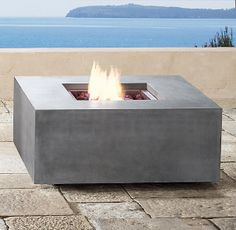 square natural gas fire pit