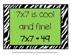Multiplication Rhymes FREEBIE