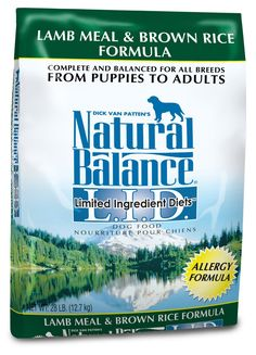 Natural Balance L. Lamb Meal & Brown Rice Formula Dry Dog Food Natural Balance L. Limited Ingredient Diets Lamb Meal & Brown Rice Dry Dog Food is made specifically for dogs prone to sensitivities to common pet food ingredients! Limited Ingredient Dog Food, Compare Dog Food, Dog Shots, Brown Rice Recipes, Dog Tags Military, Pet Supplements, Dry Dog Food, Pet Food