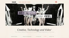 Site of the day 29 March 2012  http://www.madeinhaus.com  HAUS