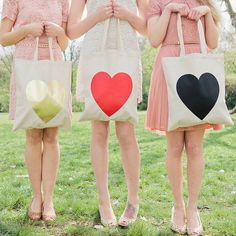 Heart Tote Bag by Alphabet Bags