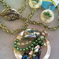 Abalone and pearls.  Susan Bowerman, Woodside WireWorks.