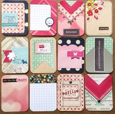 Dozen Beautiful Handmade Project Life Cards 3x4 by jessicabree
