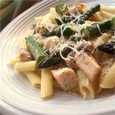 Penne with Chicken and Asparagus - Allrecipes.com delicious!