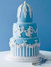 This Wedding Cakes Pictures post is all about wedding cakes with a Wedgwood Blue Theme ! Three tiers for this colonnaded cake! Pretty Cakes, Beautiful Cakes, Amazing Cakes, Take The Cake, Love Cake, Cake Cookies, Cupcake Cakes, Blue Cakes, Cake Cover