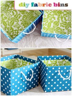 Mama's Style: Fabric Storage Bins ~ tutorial