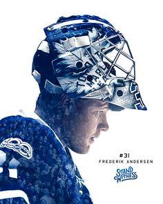 Frederik Andersen - The Season Series June 2017 Hockey Shot, Ice Hockey, Hockey Live, William Nylander, Nhl Hockey Teams, Hockey Decor, Maple Leafs Hockey, Goalie Mask, Nhl Players