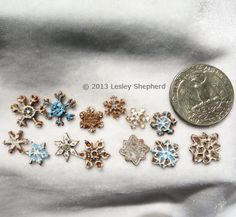 Tiny Snowflake Decorations or Dollhouse Cookies: Make Scale Miniature Snowflake Cookies