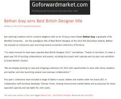 Bethan Gray wins Best British Designer at Elle Decoration's British Design Awards. She has recently collaborated with stone specialists Lapicida to create a range of marble dining tables - http://lapicida.com - http://goforwardmarket.com/bethan-gray-wins-best-british-designer-title/