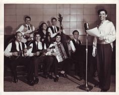 Gabe Silveira is shown with one of his musical groups in the early 1940s. / Photo courtesy of the Silveira family
