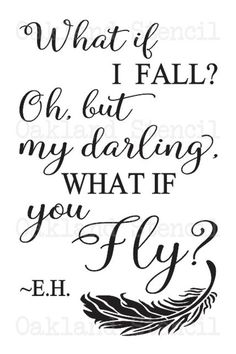 Inspirational STENCIL *What if I fall?* Two sizes or for Painting Signs Canvas Fabric Wood Airbrush Crafts Wall Art Wood Craft Patterns, Barn Quilt Patterns, Diy Wood Signs, Painted Wood Signs, Stone Painting, Painting On Wood, Rock Painting, Airbrush, Price Quote