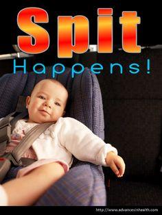 "Hillarious baby meme: ""Spit Happens!"" #meme #funny #cute #baby"
