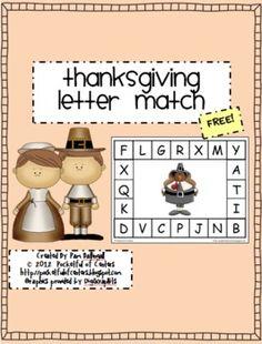 Thanksgiving Letter Match {FREEBIE}